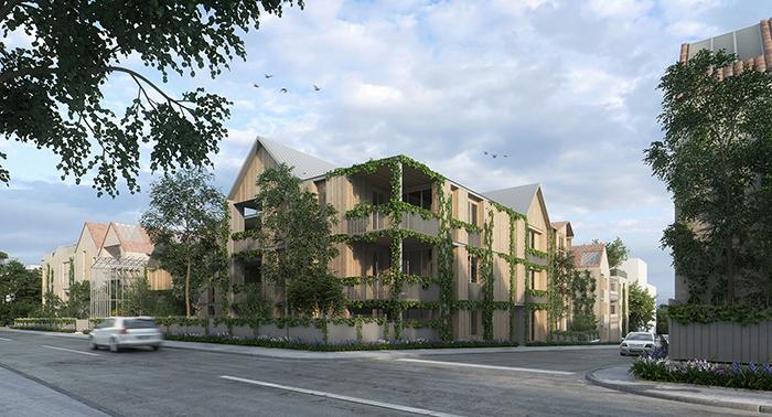 Studio Persevoir Chemetoff & Associés Cité Numérique des Bègles Eco-Quartier Noisy-Le-Grand Image 3D Perspective 3D