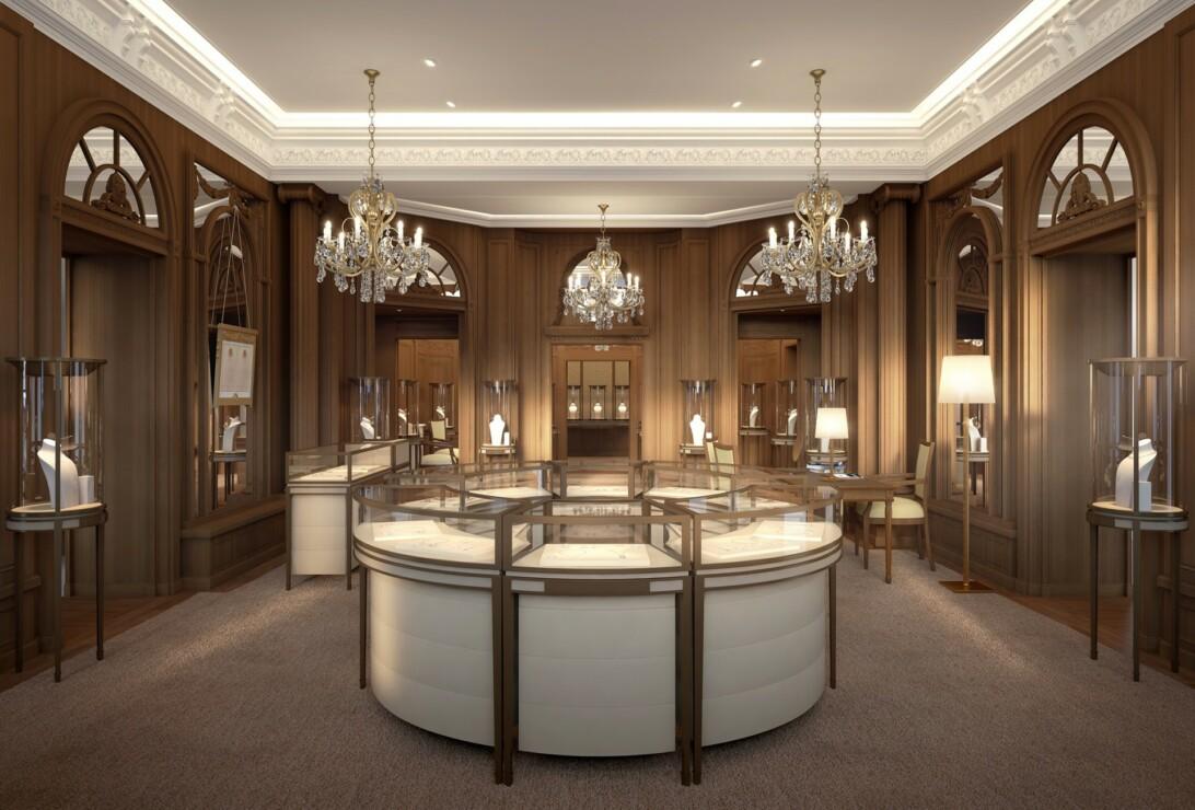 Studio Persevoir 3D concept store boutique de haute joaillerie