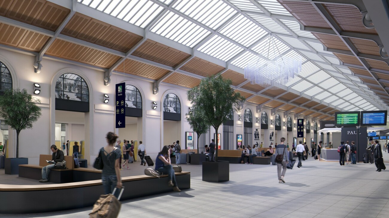 Studio Persevoir 3D quai transversal gare Saint Lazare Paris