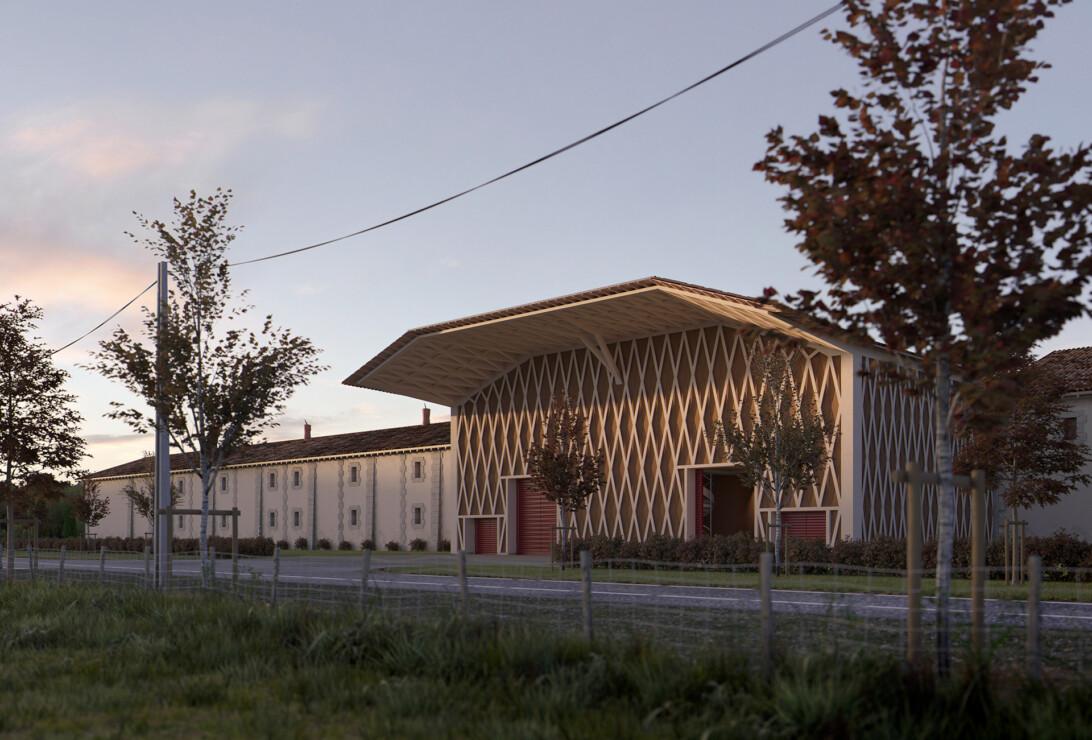 Studio Persevoir 3D domaine viticole dans le bordelais