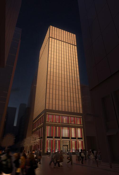 Studio Persevoir 3D projet d'une tour haute joaillerie à Tokyo