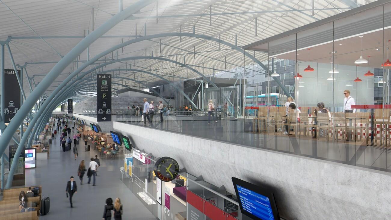 Studio Persevoir 3D projet d'aménagement de la gare Lille Europe