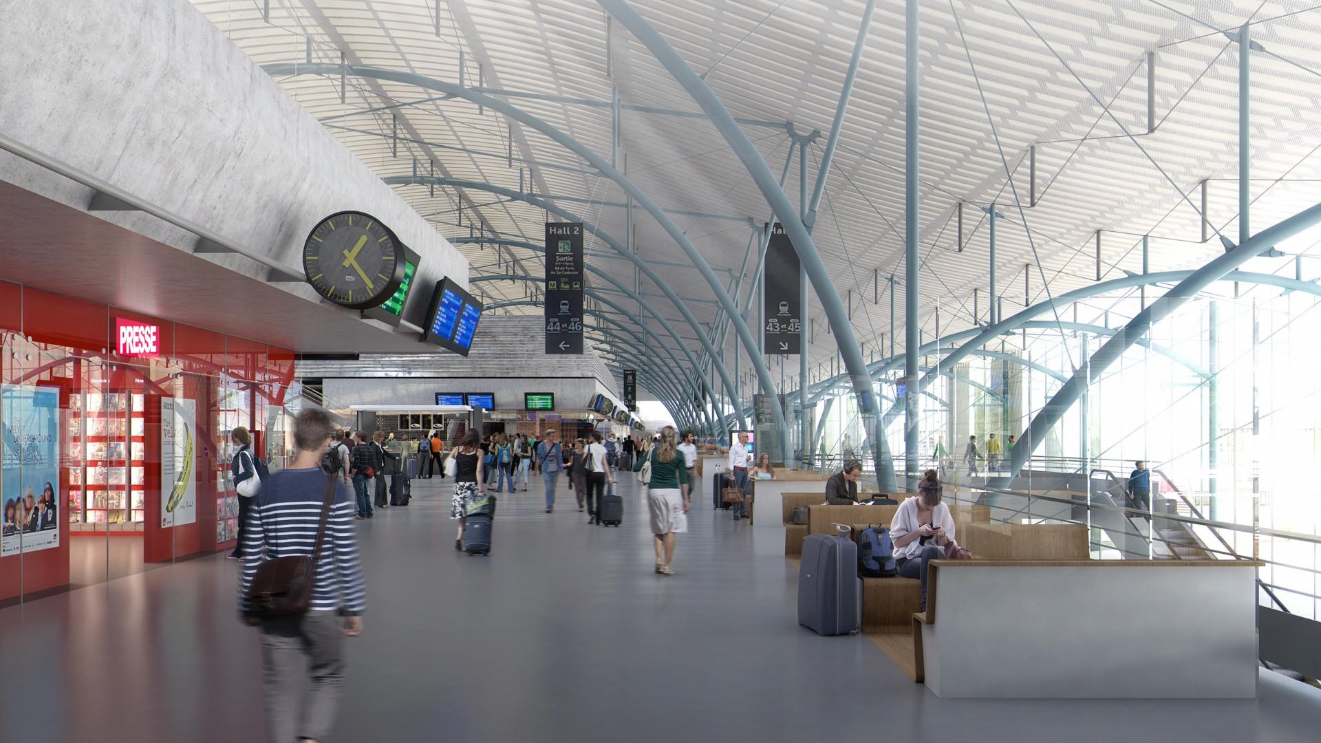Studio Persevoir Arep Gare Lille Europe Plan 3D Image 3D