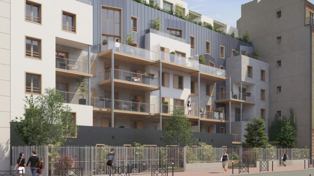 Projet immobilier de logements à Courbevoie en collaboration avec CIDF (2016)
