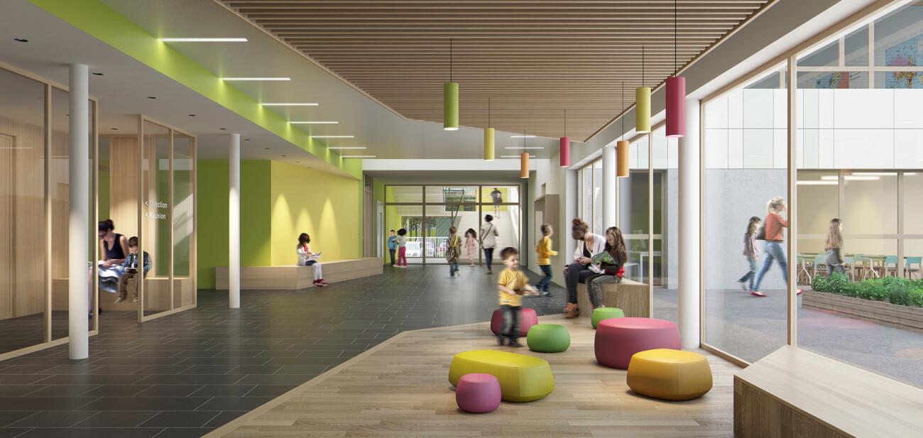 Studio Persevoir BMT & Associés Centre Scolaire Houdemont Image 3D Perspective 3D