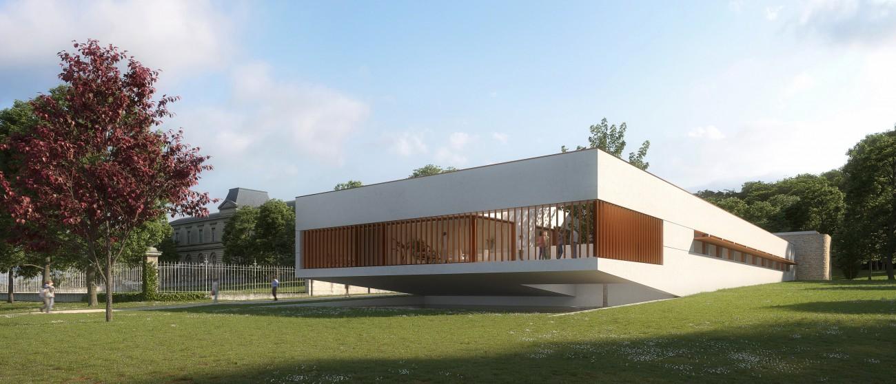 Studio Persevoir Agence Beaudouin Engel Architectes Centre Universitaire de Charente La Couronne Image 3D