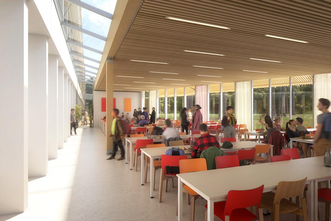 concours du lycée François Couperin à Fontainebleau en collaboration avec l'agence Jean-François Schmit Architectes