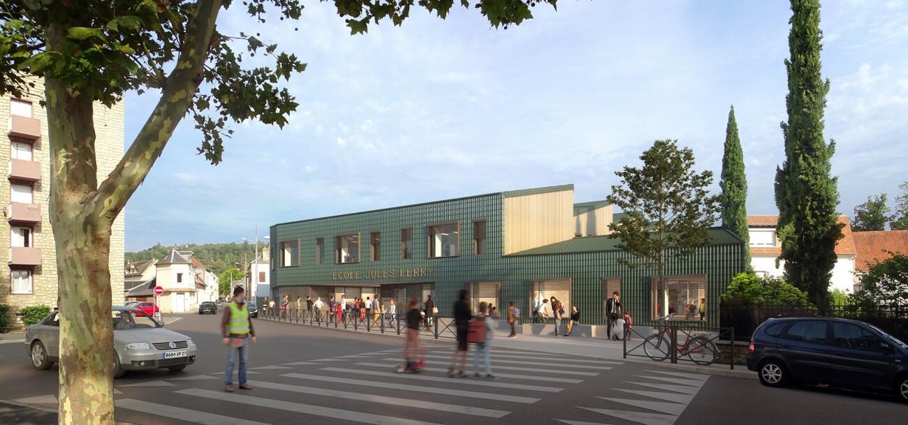 concours lauréat de l'école Jules Ferry à Louviers en collaboration avec l'agence Bettinger Desplanques