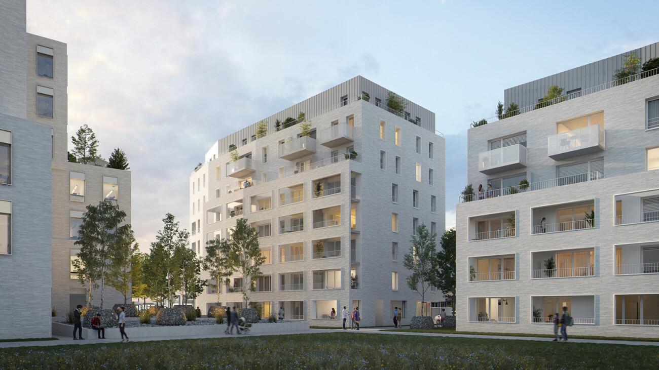 concours lauréat de logements et de bureaux en collaboration avec l'agence AIA Life Designers et l'agence Bettinger Desplanques