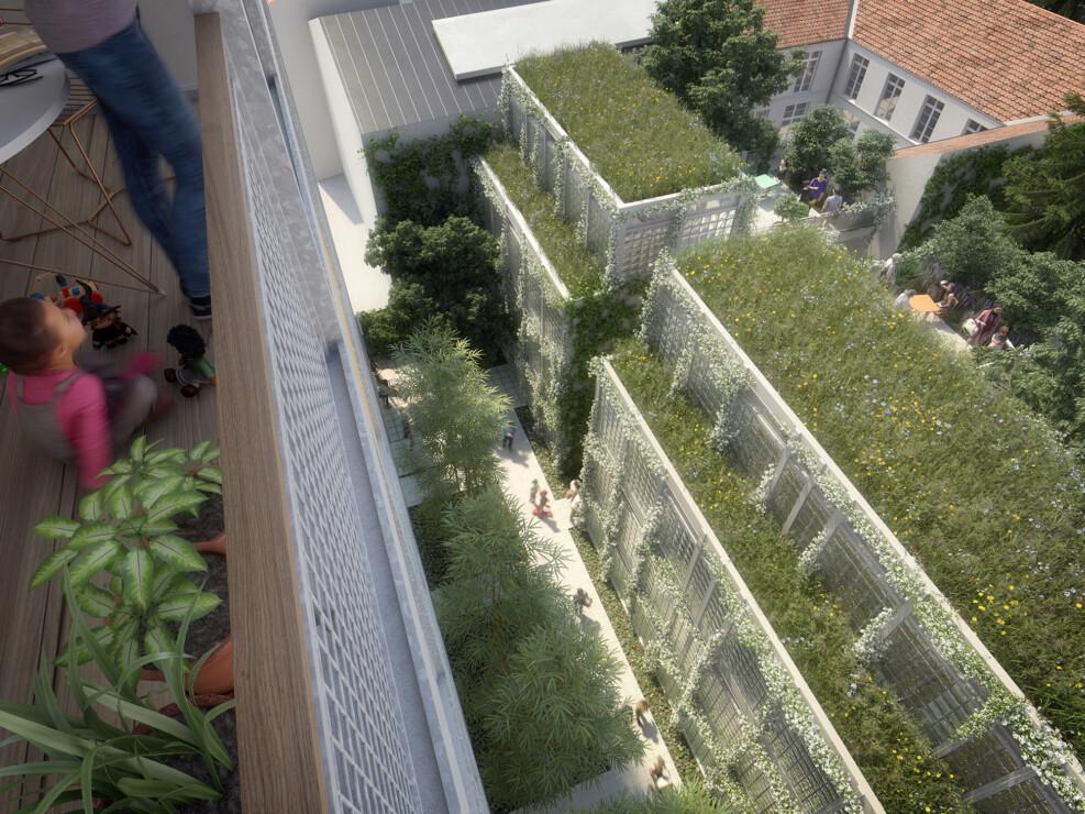 concours de logements à Paris en collaboration avec l'agence Chemetoff & Associés