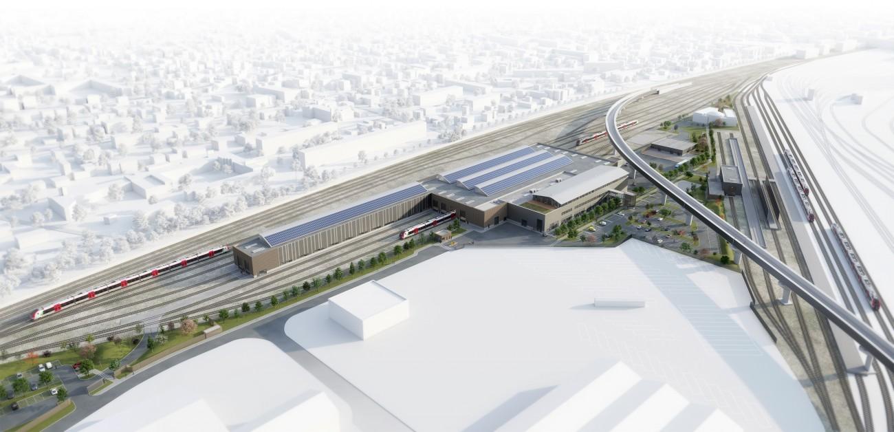 Studio Persevoir Jean François Schmit Architectes Technicentre SNCF Image 3D Plans 3D
