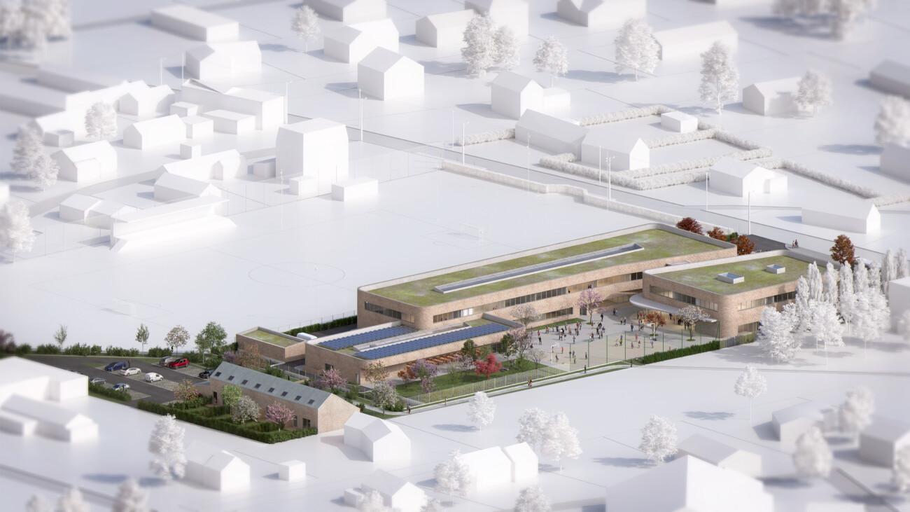 Studio Persevoir Bettinger Desplanques Aménagement Du Collège Maurice Maeterlinck Luneray Image 3D Plan 3D