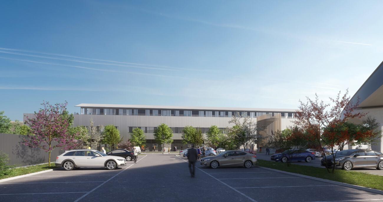 Studio Persevoir Jean François Schmit Architectes & Associés Aménagement Du Technicentre Ligne Eole Mantes-la-Jolie Parking Image 3D Perspective 3D