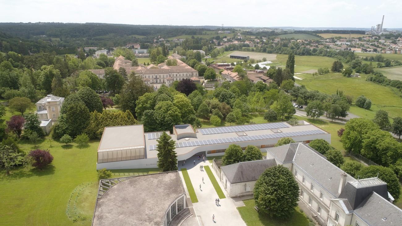 Studio Persevoir  Beaudouin Engel Architectes Nouveau Bâtiment Pour Le Centre Universitaire De La Couronne Charente Image 3D Perspective 3D