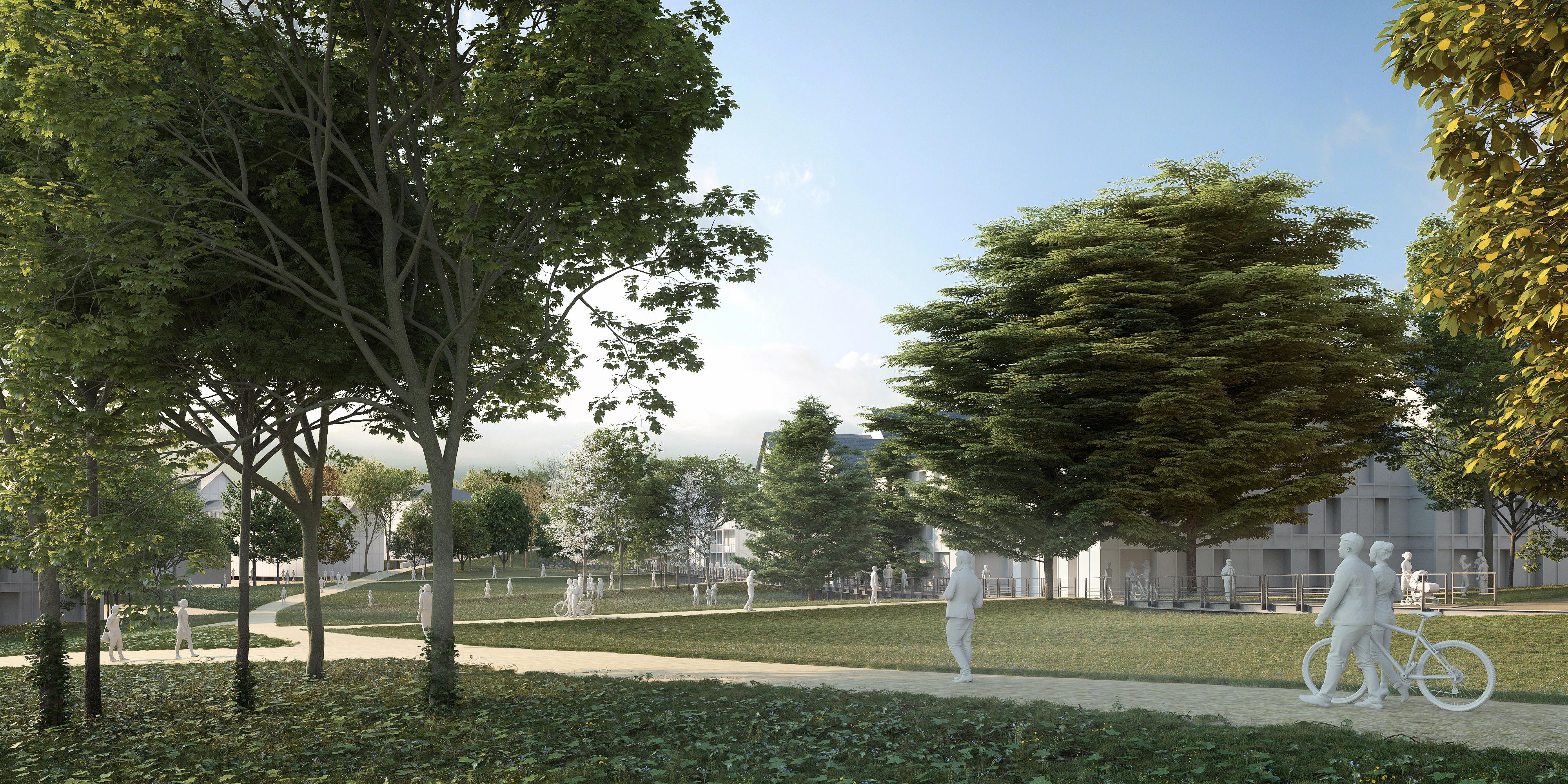 Studio Persevoir Conception Du Quartier Eco Bodelio Lorient Chemettof Et Associés Image 3D Perspective 3D