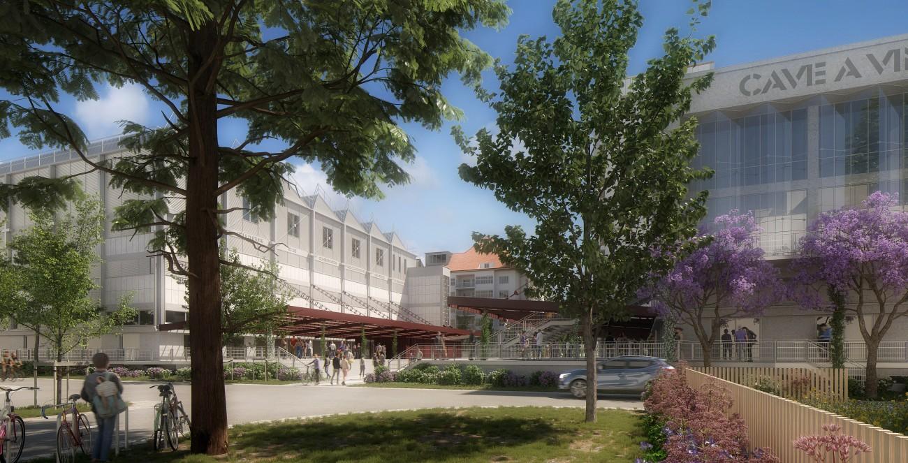 Studio Persevoir Chemetoff Projet De Réhabilitation Du Quartier De La Coop Rue Strasbourg Image 3D Perspective 3D